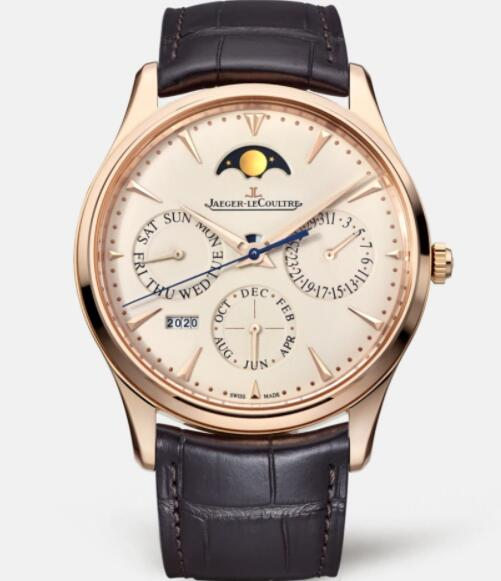 Replica Jaeger Lecoultre Master Ultra Thin Perpetual 1302520 Pink Gold Men Watch Automatic self-winding