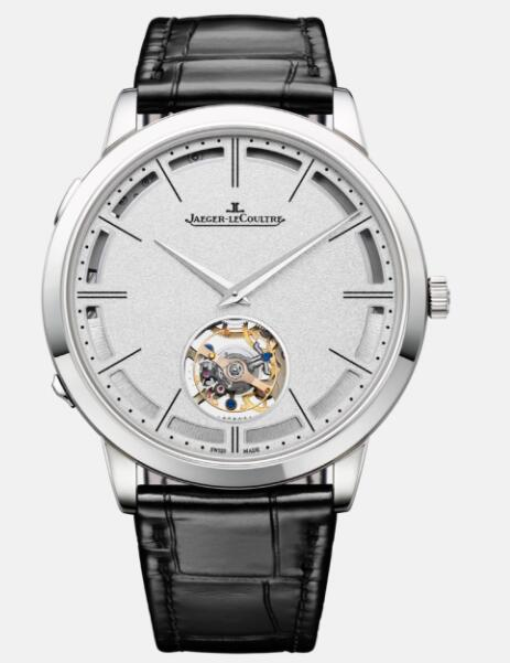 Jaeger Lecoultre Master Ultra Thin Minute Repeater Flying Tourbillon White Gold Automatic self-winding Men Replica Watch 1313520