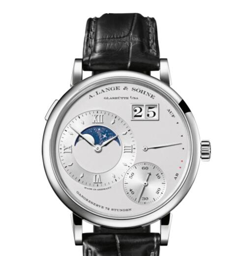A Lange Sohne GRAND LANGE 1 MOON PHASE Platinum with dial in rhodié Replica Watch 139.025