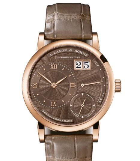 A Lange & Sohne LITTLE LANGE 1 Pink gold with guilloched dial in brown Replica Watch 181.037