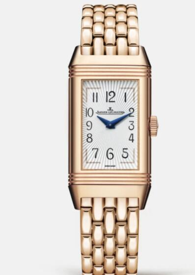 Jaeger Lecoultre Reverso One Duetto Moon Manual-winding Pink Gold Ladies Replica Watch 3352120