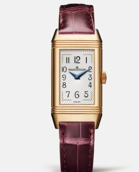 Jaeger Lecoultre Reverso One Duetto Moon Manual-winding Pink Gold Ladies Replica Watch 3352420
