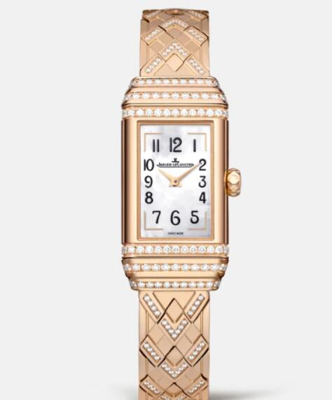 Jaeger Lecoultre Reverso One Duetto Jewellery Manual-winding Pink Gold Ladies Replica Watch 3362201