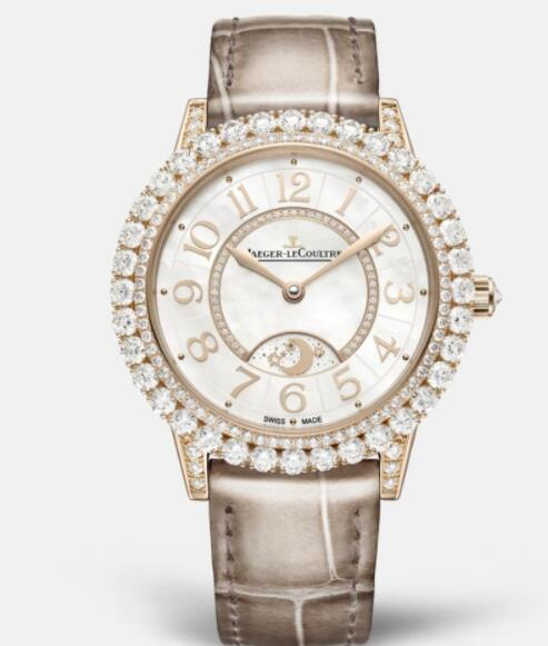Jaeger Lecoultre Dazzling Rendez-Vous Night & Day Automatic self-winding Pink Gold Ladies Replica Watch 3432570