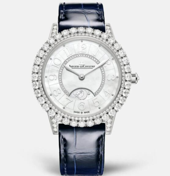 Jaeger Lecoultre Dazzling Rendez-Vous Night & Day Automatic self-winding White Gold Ladies Replica Watch 3433570