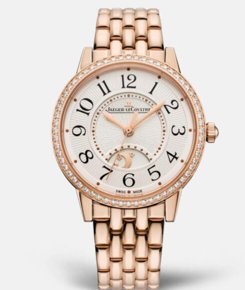 Jaeger Lecoultre Rendez Vous Night & Day Medium Automatic self-winding Pink Gold Ladies Replica Watch 3442130