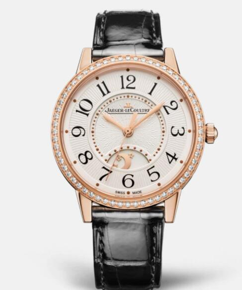 Jaeger Lecoultre Rendez Vous Night & Day Medium Automatic self-winding Pink Gold Ladies Replica Watch 3442430