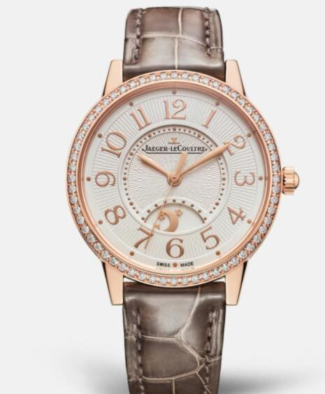 Jaeger Lecoultre Rendez Vous Night & Day Medium Automatic self-winding Pink Gold Ladies Replica Watch 3442440