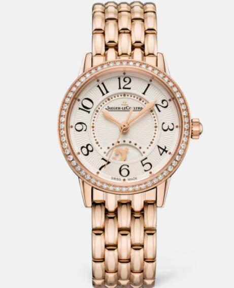 Jaeger Lecoultre Rendez Vous Night & Day Small Automatic self-winding Pink Gold Ladies Replica Watch 3462130