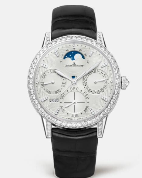 Jaeger Lecoultre Rendez-Vous Perpetual Calendar Automatic self-winding White Gold Ladies Replica Watch 3493420