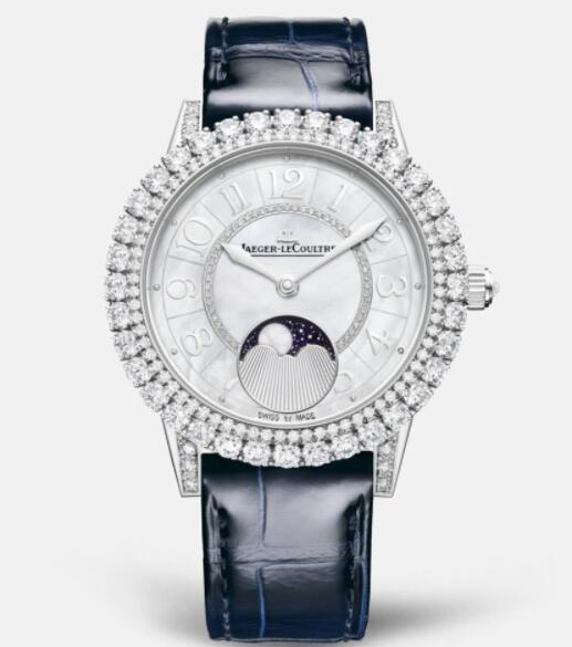 Jaeger Lecoultre Dazzling Rendez-Vous Moon Automatic self-winding White Gold Ladies Replica Watch 3523570