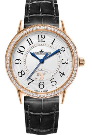 Jaeger-LeCoultre Rendez-Vous Night & Day Large - Pink Gold Case - Silvered Grey Dial Replica Watch 3612421