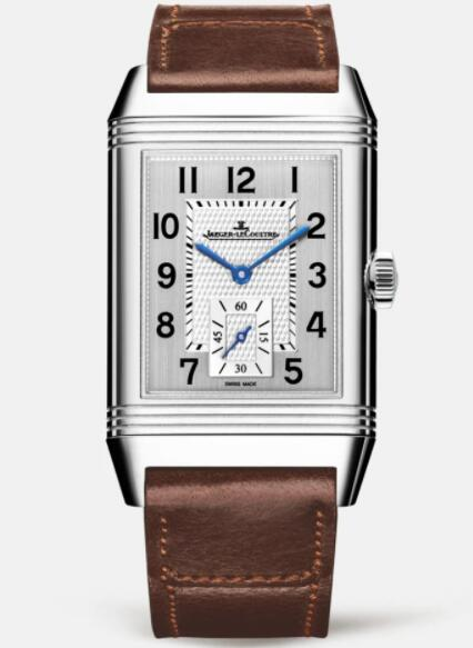Jaeger Lecoultre Reverso Classic Large Duoface Small Seconds Stainless Steel Men Manual-winding Replica Watch 3848422