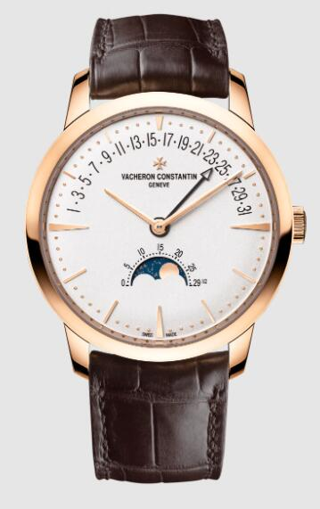 Vacheron Constantin Patrimony moon phase retrograde date 18K 5N pink gold 4010U/000R-B329 Replica Watch