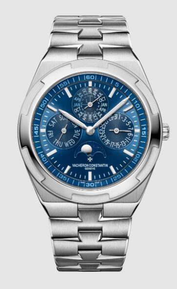 Vacheron Constantin Overseas perpetual calendar ultra-thin 18K white gold Replica Watch 4300V/120G-B945