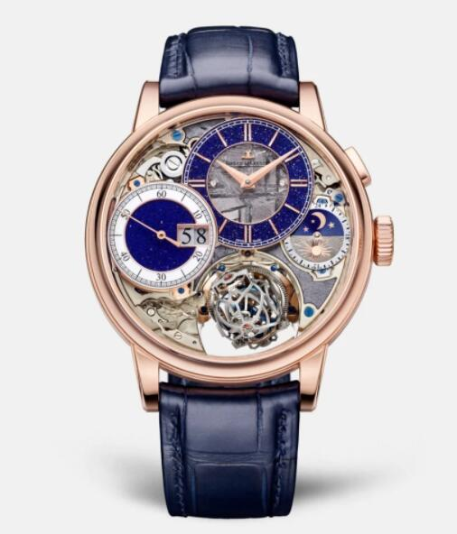 Jaeger Lecoultre Master Grande Tradition Gyrotourbillon 3 Pink Gold Manual-winding Men Replica Watch 5032441