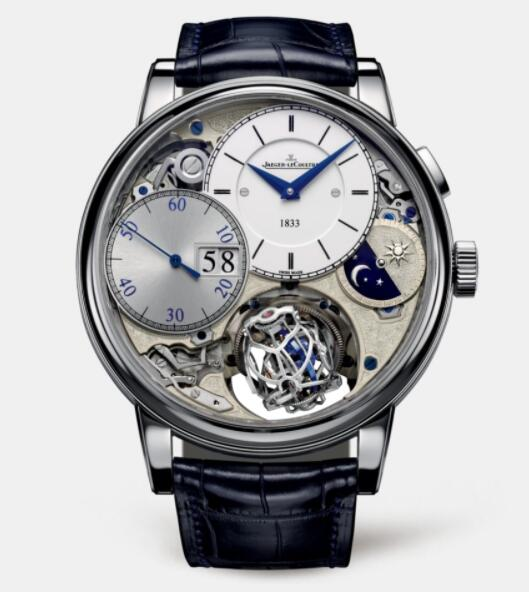 Jaeger Lecoultre Master Grande Tradition Gyrotourbillon 3 Jubilee Platinum Manual-winding Men Replica Watch 5036420