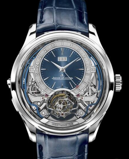 Replica Jaeger Lecoultre Master Grande Tradition Gyrotourbillon Westminster Perpétuel 52534E1 White Gold - Blue Dial Watch