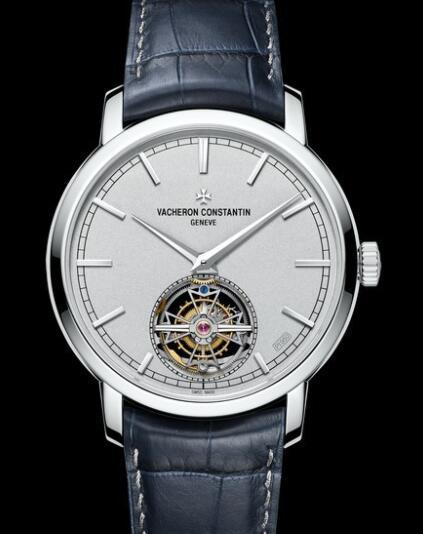 Replica Watch Vacheron Constantin Traditionnelle Tourbillon 6000T/000P-B347 Platinum - Platinum Dial - Alligator Strap