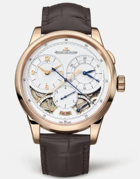 Jaeger Lecoultre Duomètre Chronographe Pink Gold Manual-winding Men Replica Watch 6012421