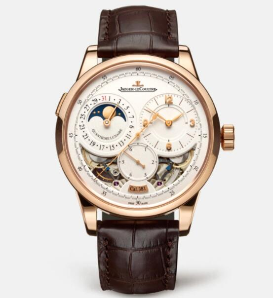 Jaeger Lecoultre Duomètre Quantième Lunaire Pink Gold Manual-winding Men Replica Watch 6042422