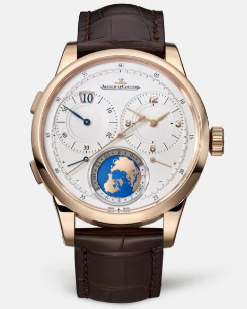 Jaeger Lecoultre Duomètre Unique Travel Time Pink Gold Manual-winding Men Replica Watch 6062420