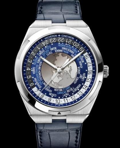 Vacheron Constantin Overseas World Time Replica Watch 7700V/110A-B172 Steel - Leather Straps
