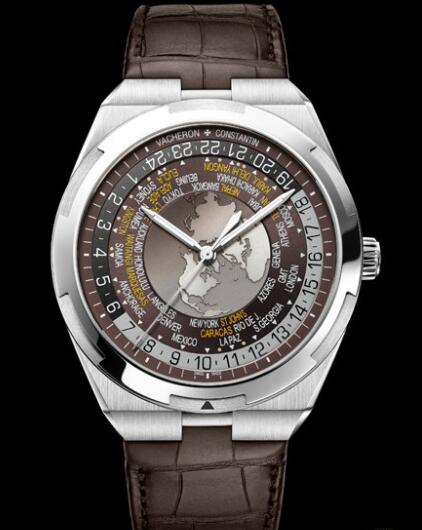 Vacheron Constantin Overseas World Time Replica Watch 7700V/110A-B176 Steel - Leather Straps