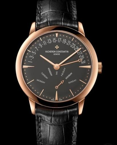 Vacheron Constantin Patrimony Date-Jour Rétrogradants Replica Watch 86020/000R-9940 Pink Gold - Alligator Bracelet