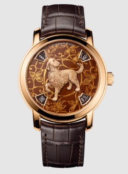 Replica Vacheron Constantin Metiers d'Art The legend of the Chinese zodiac - Year of the dog 18K 5N pink gold Watch 86073/000R-B256