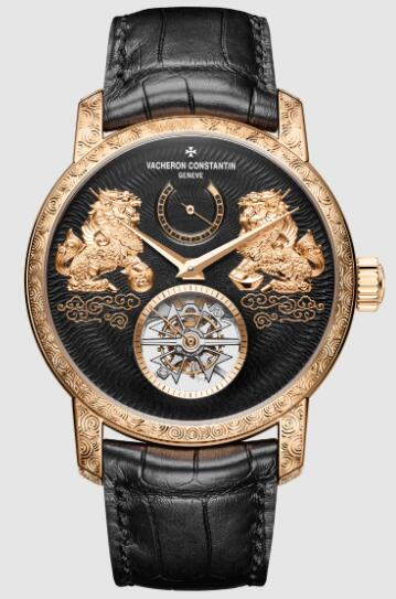 Vacheron Constantin Traditionnelle tourbillon pink gold Replica Watch 89000/000R-B645