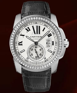 Fake Calibre De Cartier watch WF100003 on sale
