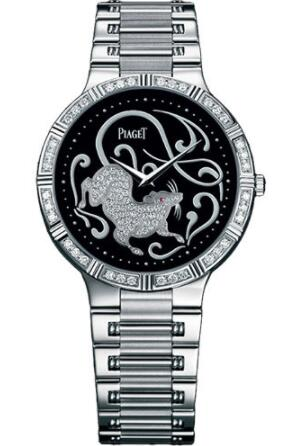 Piaget Dancer Ultra-Thin Replica Watch 38mm White Gold Onyx Zodiac G0A32190