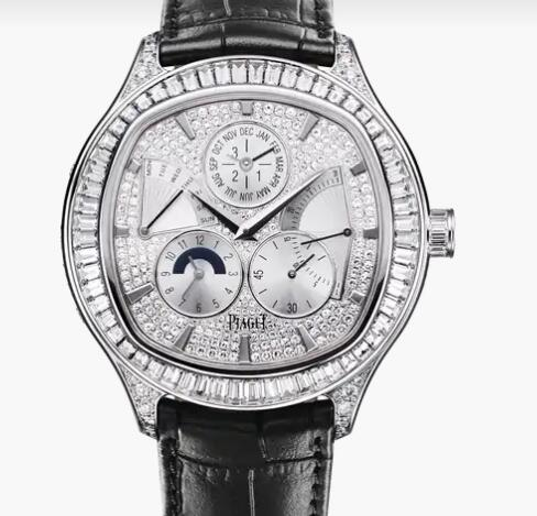 Replica Piaget Emperador cushion Perpetual calendar watch Piaget diamond men luxury watch G0A35020