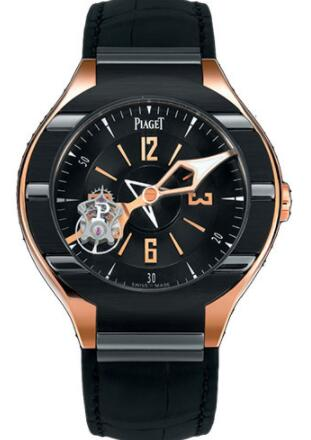 Replica Piaget Polo Tourbillon Numbered Edition Watch 45 mm G0A35124