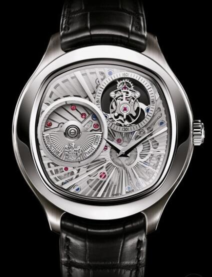 Replica Piaget Emperador Coussin Tourbillon Automatique Extra-Plat Watch G0A36040 White Gold