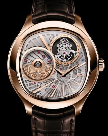 Replica Piaget Emperador Coussin Tourbillon Automatique Extra-Plat Watch G0A36041 Pink gold