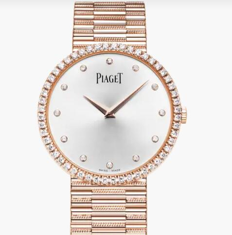 Replica Piaget Traditional Rose gold Diamond Ultra-thin mechanical Watch G0A37046 Piaget Luxury Watch