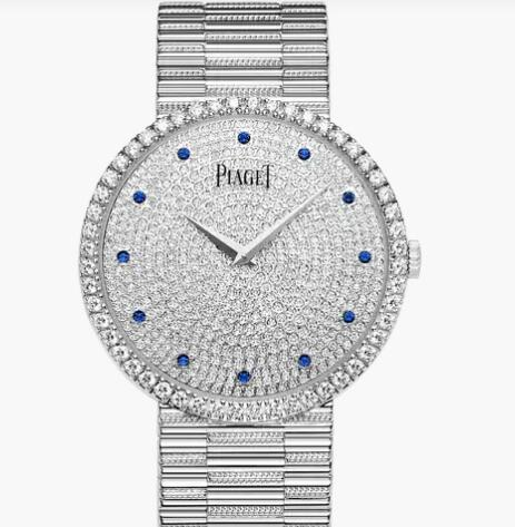 Replica Piaget Traditional White gold Diamond Ultra-thin mechanical Watch G0A37047 Piaget Luxury Watch