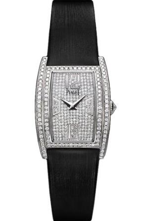 Replica Piaget Limelight Tonneau-Shaped Watch White Gold - 22 x 30 mm G0A37091