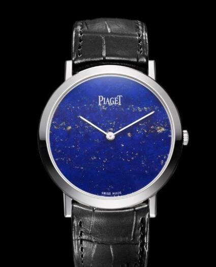 Replica Piaget Altiplano 38 mm Cadran Pierre Dure Watch G0A37200 White Gold - Lapis Lazuli Dial