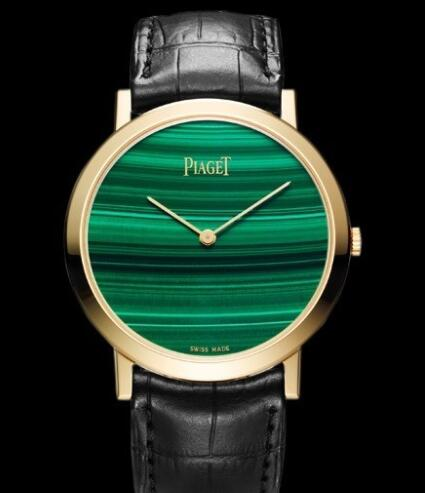 Replica Piaget Altiplano 38 mm Cadran Pierre Dure Watch G0A37202 Yellow Gold - Malachite Dial