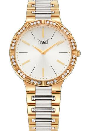 Piaget Dancer Ultra-Thin Replica Watch 38mm Rose And White Gold G0A38060
