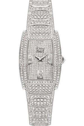 Replica Piaget Limelight Tonneau-Shaped Watch White Gold - 22 x 30 mm G0A38095