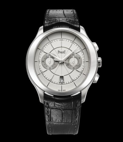 Piaget Gouverneur Chronograph White Gold Replica Watch G0A38112