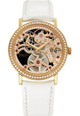 Piaget Altiplano Ultra-Thin Skeleton Replica Watch 34 mm G0A38121