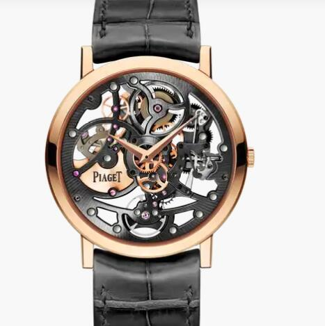 Replica Piaget Altiplano Rose Gold Ultra-Thin Skeleton Watch G0A38132