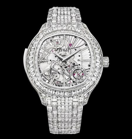 Replica Piaget Emperador Coussin Minute Repeater White Gold Diamond Bracelet Watch G0A39020