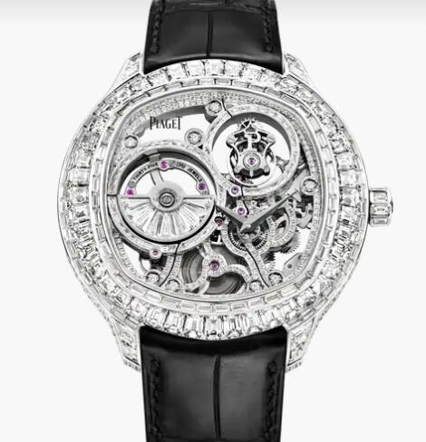 Replica Piaget Emperador cushion Men Diamond Skeleton Watch Piaget Luxury Watch G0A39039