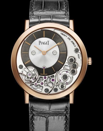 Replica Piaget Altiplano 900P Watch G0A39110 Pink Gold - Strap Alligator
